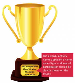 example on trophy